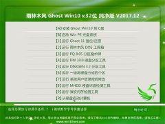 雨林木风Ghost Win10 X32 办公纯净版2017V12(完美激活)